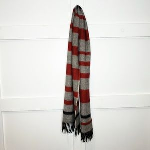 Peruvian Connection Baby Alpaca Striped Scarf Red
